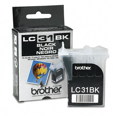 LC31BK Ink, 500 Page-Yield, Black
