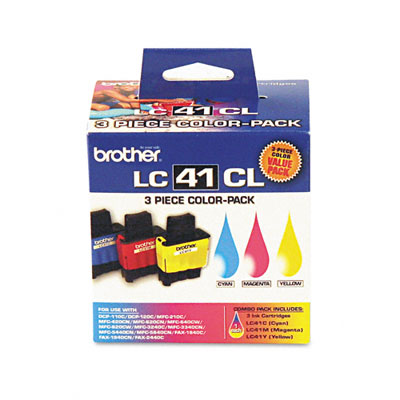 LC413PKS Ink, 400 Page-Yield, 3/Pack, Cyan; Magenta; Yellow