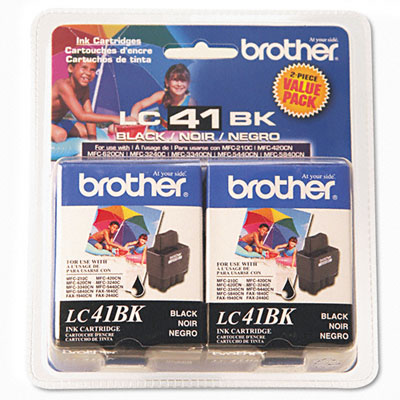 LC41BK2PKS Ink, 500 Page-Yield, 2/Pack, Black