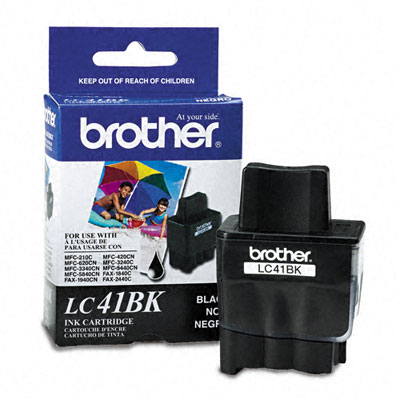 LC41BK Ink, 500 Page-Yield, Black