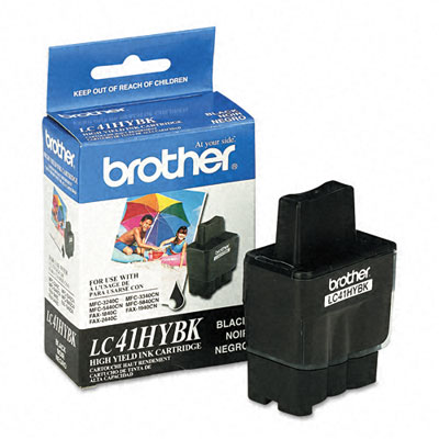 LC41HYBK High-Yield Ink, 900 Page-Yield, Black