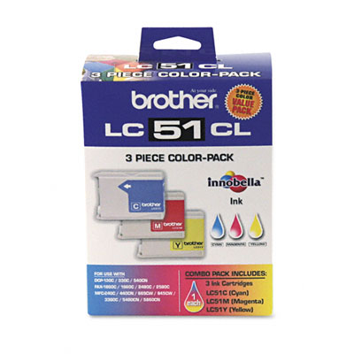 LC513PKS Ink, 400 Page-Yield, 3/Pack, Tri-Color