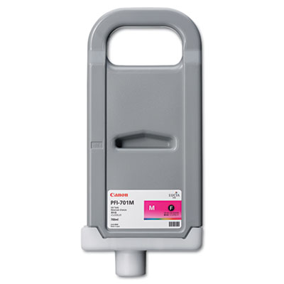 0902B001 (PFI-701M) Ink Tank, 700 mL, Magenta