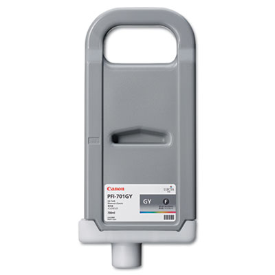0909B001 (PFI-701) Ink Tank, 700 mL, Gray