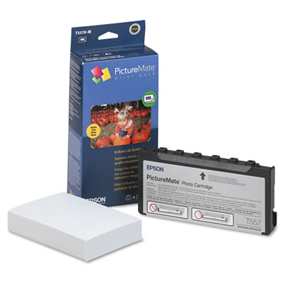 PictureMate Ink Cartridge/Paper Combo Print Pack w/100 Matte 4 x 6 Sheets