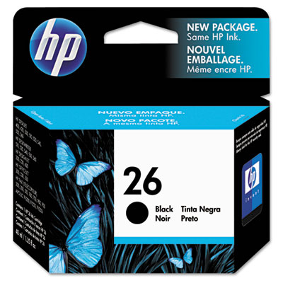 51626A (HP 26) Ink, 790 Page-Yield, Black