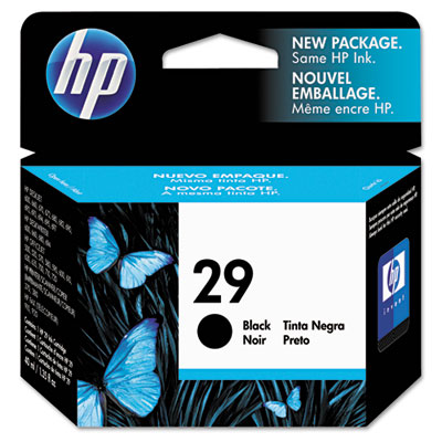 51629A (HP 29) Ink, 720 Page-Yield, Black