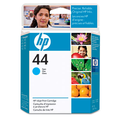 51644C (HP 44) Ink, 1600 Page-Yield, Cyan