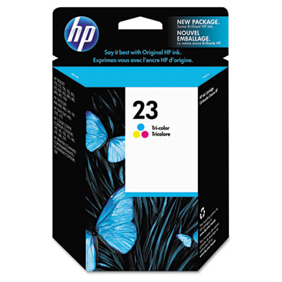 C1823D (HP 23) Ink, 620 Page-Yield, Tri-Color