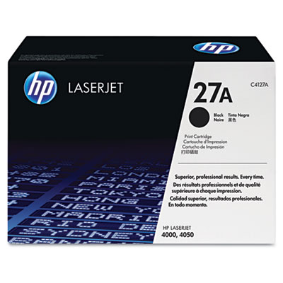 C4127A (HP 27A) Toner, 6000 Page-Yield, Black