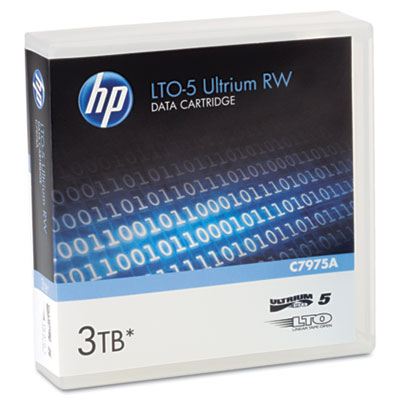 "1/2"" Ultrium LTO-5 Cartridge, 2775ft, 1.5TB Native/3TB Compressed Capacity"