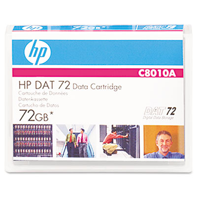 "1/8"" DAT 72 Cartridge, 170m, 36GB Native/72GB Compressed Capacity"