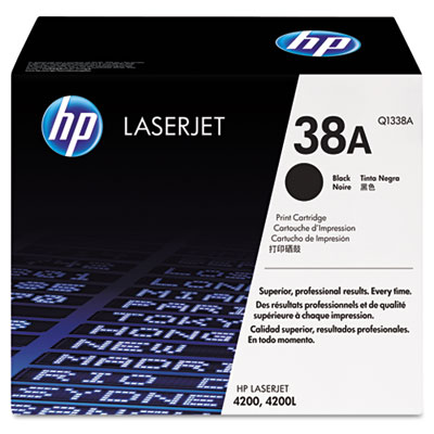 Q1338A (HP 38A) Toner, 12000 Page-Yield, Black