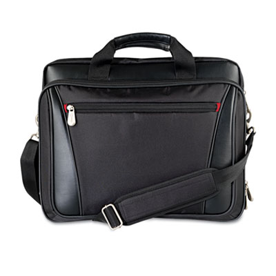 Laptop Business Case, Nylon/Vinyl, 15-1/4 x 4-1/2 x 12-1/4, Black