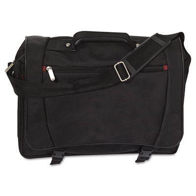 Laptop Messenger Bag, Polyester, 17 x 4-1/2 x 13, Black