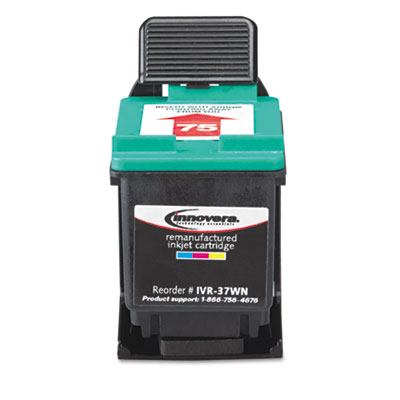 37WN Compatible Remanufactured Ink, 170 Page-Yield, Tri-Color