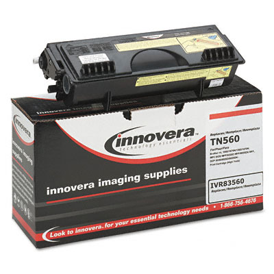 83560 Compatible Remanufactured High-Yield Toner, 6500 Page-Yield, Black