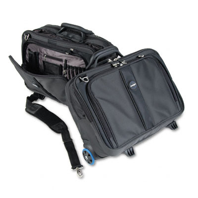 Contour Roller Laptop Case, Nylon, 17-1/2 x 9-1/2 x 13, Black