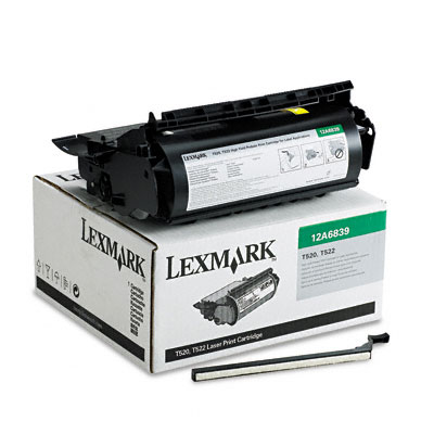 12A6839 High-Yield Toner, 20000 Page-Yield, Black