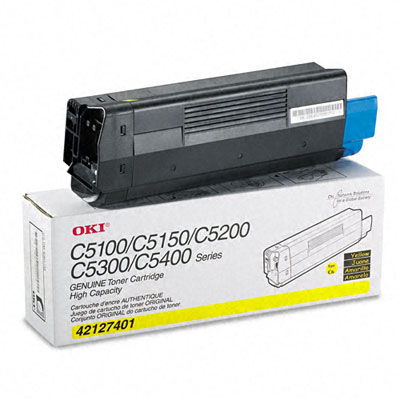 42127401 High-Yield Toner (Type C6), 5000 Page-Yield, Yellow