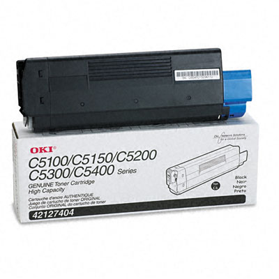 42127404 High-Yield Toner (Type C6), 5000 Page-Yield, Black
