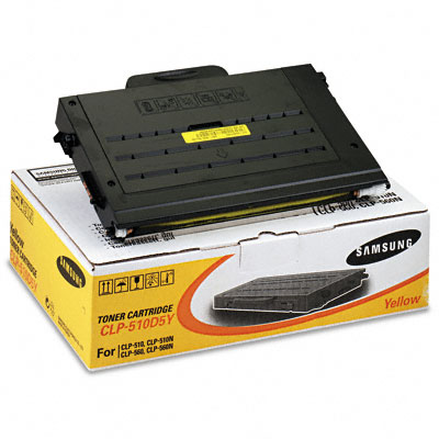 CLP510D5Y High-Yield Toner, 5000 Page-Yield, Yellow