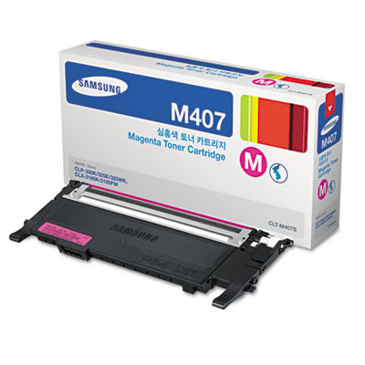 CLTM407S (CLT-M407S) Toner, 1,500 Page-Yield, Magenta