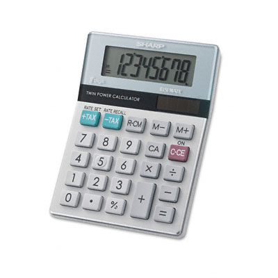 EL-310MB Twin Powered Semi-Desktop Calculator, 8-Digit LCD
