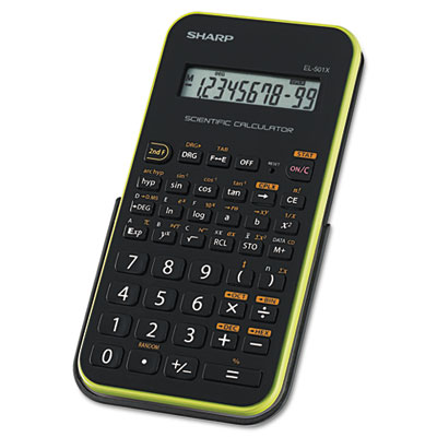 EL-501XBGR Scientific Calculator, 10-Digit LCD, Black/Green