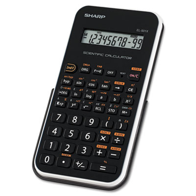 EL-501XBWH Scientific Calculator, 10-Digit LCD, Black/White