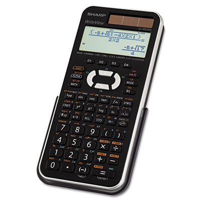 EL-W516XBSL Scientific Calculator, 16-Digit x 4-Line LCD, Black/Silver
