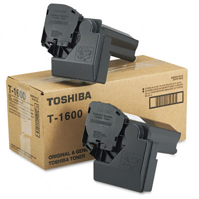 T1600 Toner, 5000 Page-Yield, 2/Pack, Black