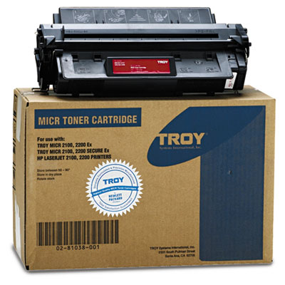 0281038001 Compatible MICR Toner Secure, 5,000 Page-Yield, Black