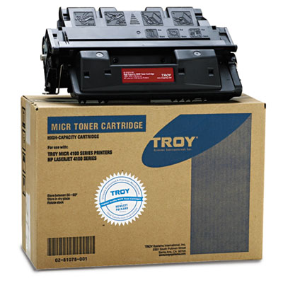 0281078001 Compatible MICR High-Yield Toner Secure, 10,000 Page-Yield, Black
