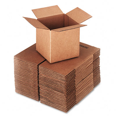 Corrugated Kraft Fixed-Depth Shipping Carton, 6w x 6l x 6h, Brown, 25/Bundle