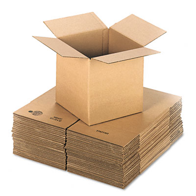 Corrugated Kraft Fixed-Depth Shipping Carton, 12w x 12l x 12h, Brown, 25/Bundle