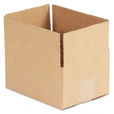 Corrugated Kraft Fixed-Depth Shipping Carton, 6w x 8l x 4h, Brown, 25/Bundle