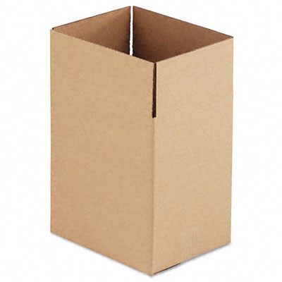 Corrugated Kraft Fixed-Depth Shipping Carton,8-3/4 x 11-1/4 x 12h,BR,25/Bundle