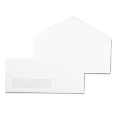 Window Business Envelope, V-Flap, #10, White, 500/Box