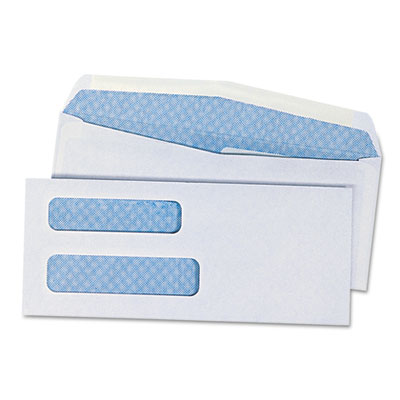 Double Window Business Envelope, #8 5/8, White, 500/Box