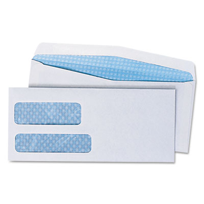 Double Window Business Envelope, #9, White, 500/Box