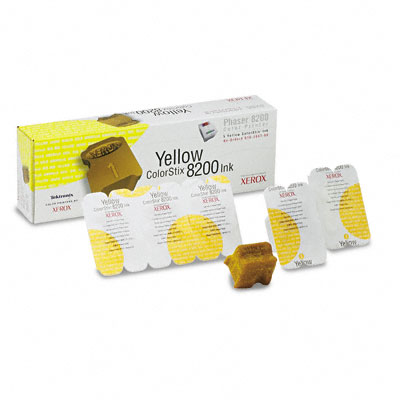 016204700 Solid Ink Stick, 1400 Page-Yield, 5/Box, Yellow