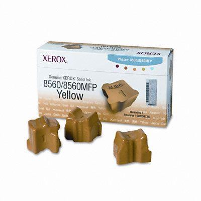 108R00725 Solid Ink Stick, 3400 Page-Yield, 3/Box, Yellow