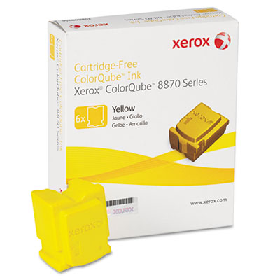 108R00952 Solid Ink Stick, 17,300 Page-Yield, Yellow, 6/Pack